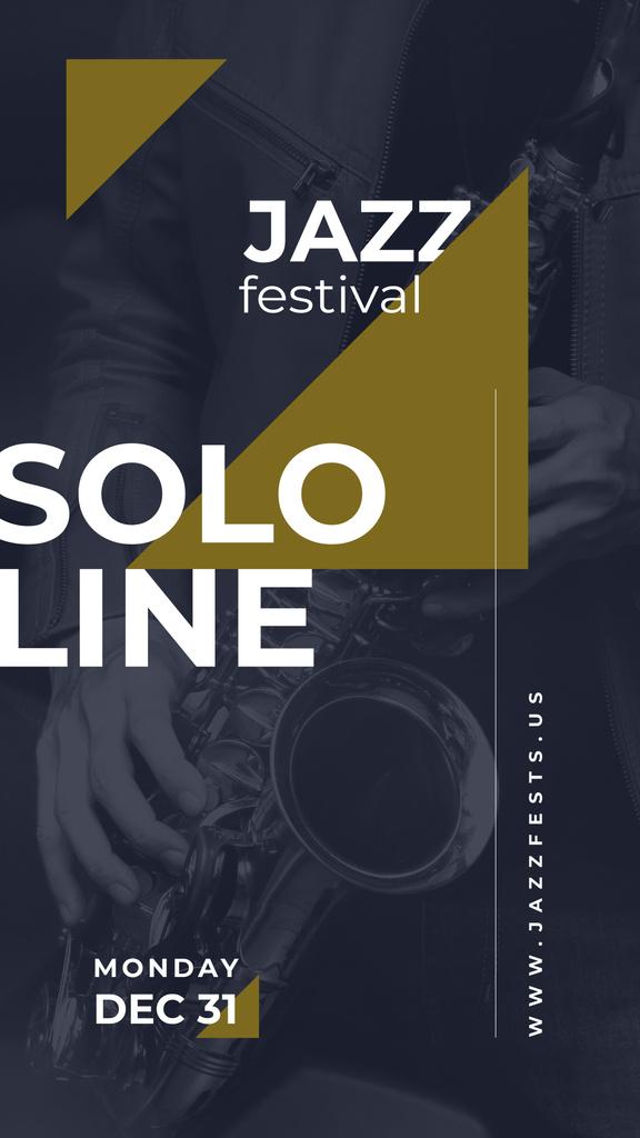 Man playing saxophone — Modelo de projeto