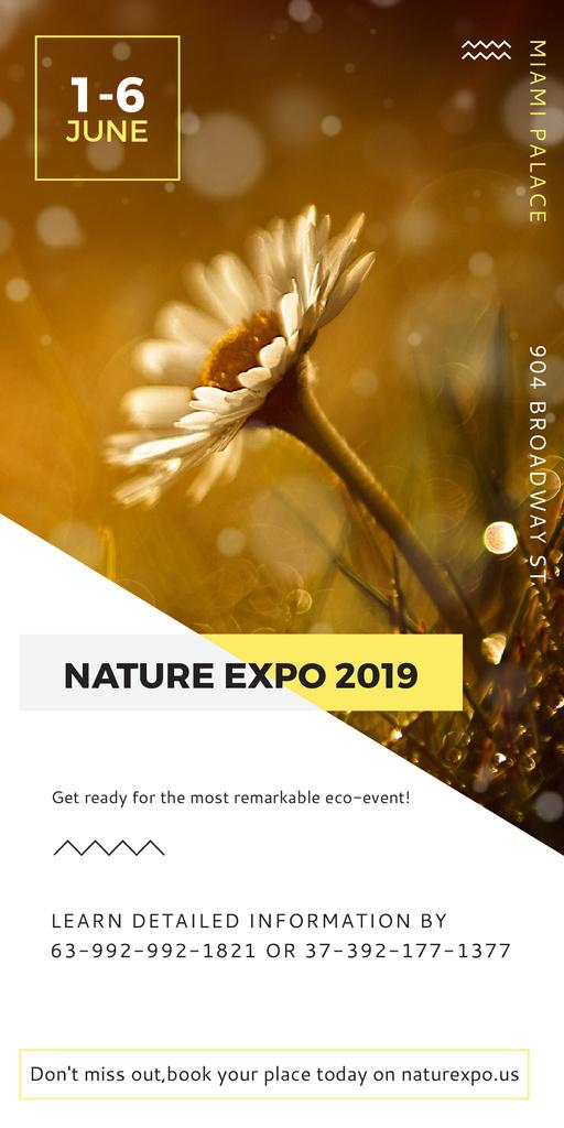 Nature Expo announcement Blooming Daisy Flower — Crea un design