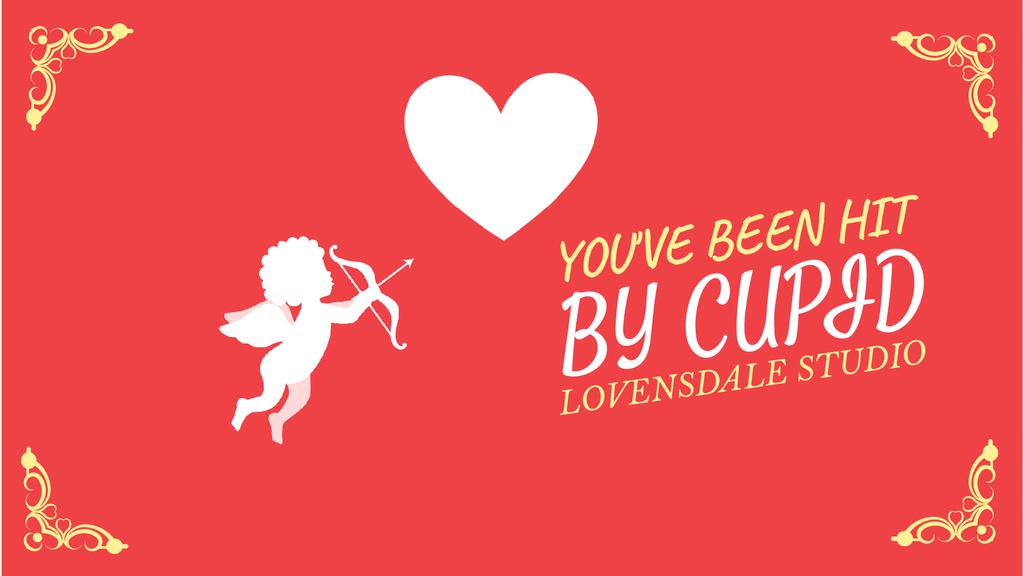 Cupid shooting in Valentine's Day Heart — Crear un diseño