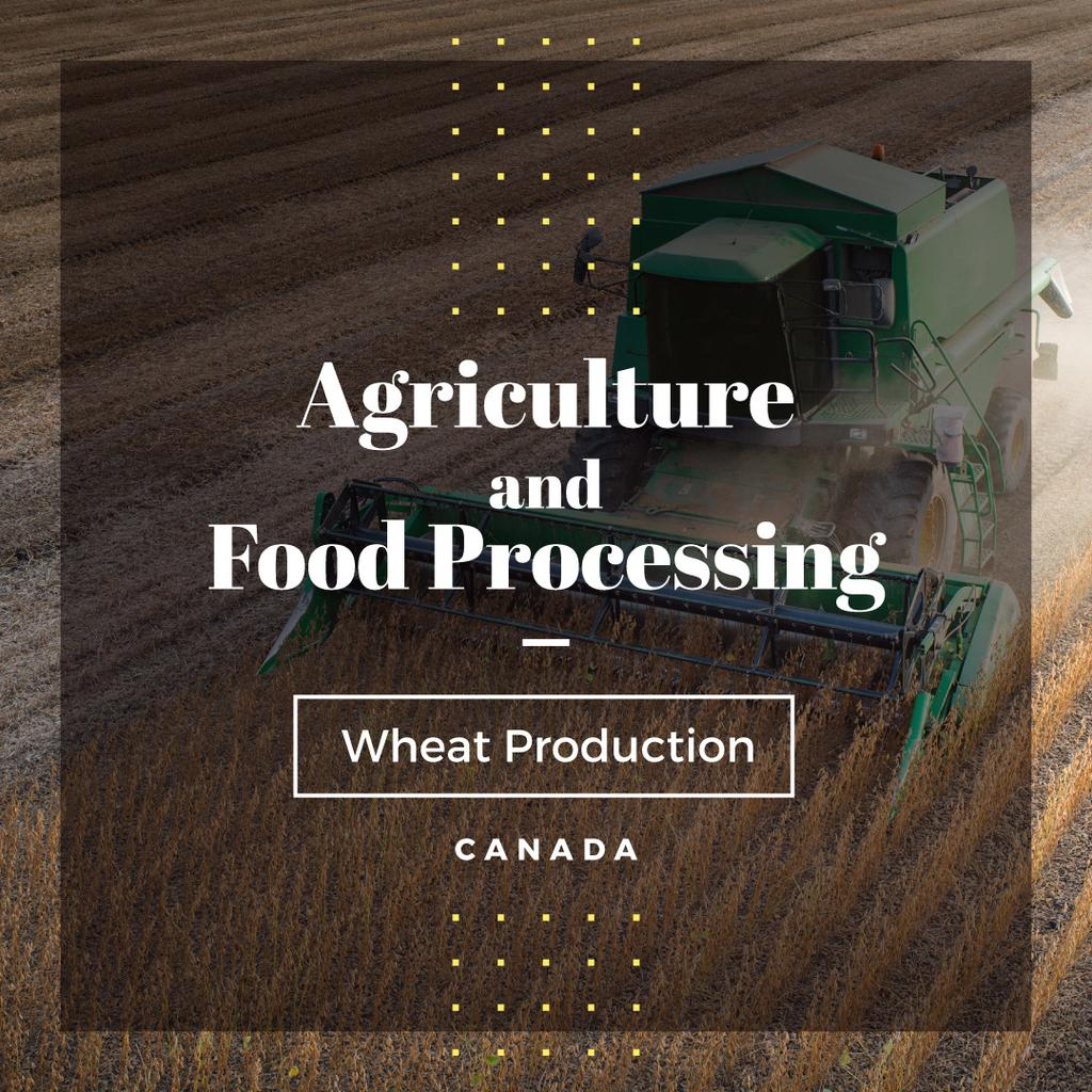 Agriculture and food processing poster — Create a Design
