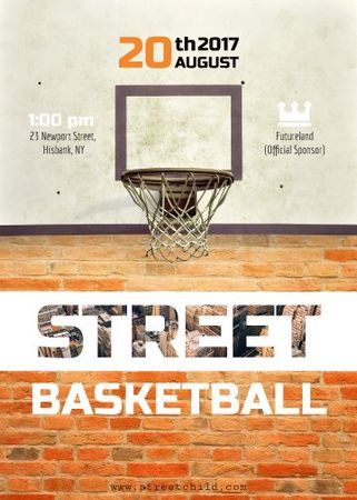 Template di design Basketball net on street court Flayer
