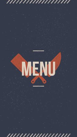Meat and Fish restaurant menu icons Instagram Highlight Cover Modelo de Design