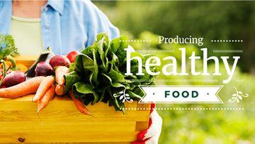Farmer holding organic Vegetables