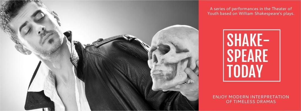 Theater Invitation Actor in Shakespeare's Performance | Facebook Cover Template — ein Design erstellen