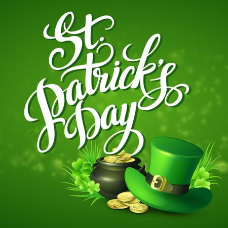 Ontwerpsjabloon van Animated Post van Hat and Coins for Saint Patrick's Day