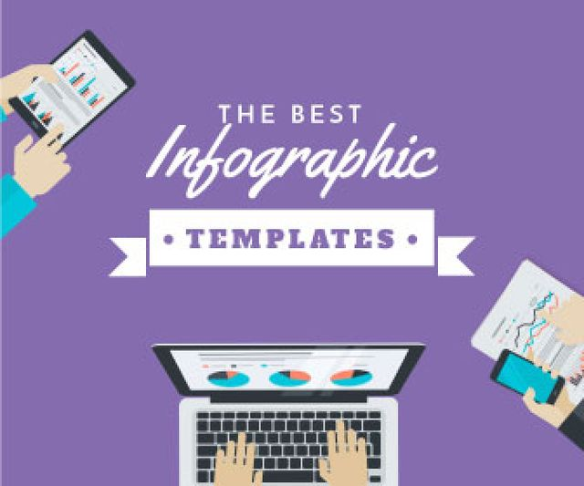 Template di design Best infographic templates banner Large Rectangle