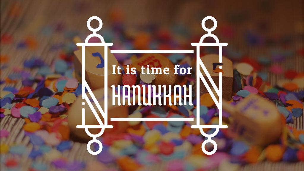Happy Hanukkah dreidels — Создать дизайн