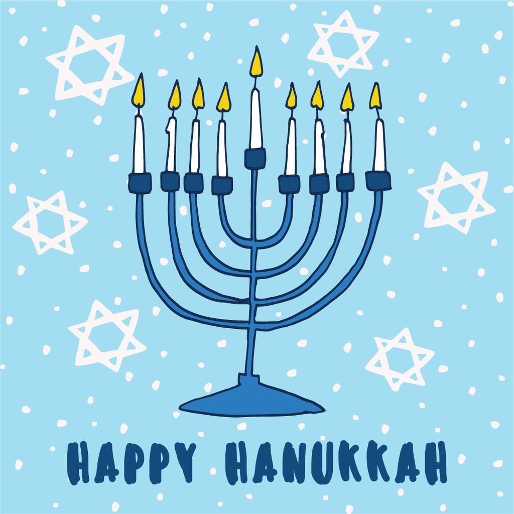 Happy Hanukkah greeting card  — Créer un visuel