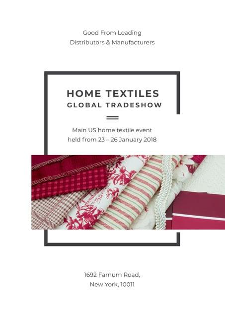 Plantilla de diseño de Home textiles global tradeshow Poster
