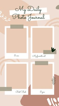 Template di design My Daily Photo Journal Profile Instagram Story