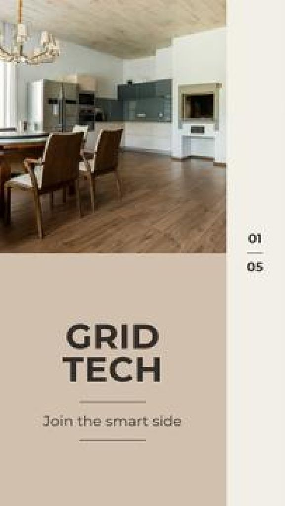 Modèle de visuel Smart Home design company promotion - Mobile Presentation
