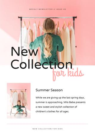 Ontwerpsjabloon van Newsletter van Kids Fashion collection review