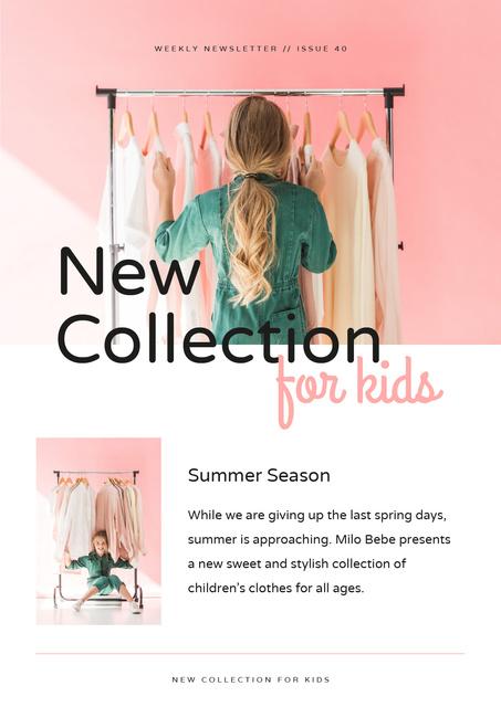 Kids Fashion collection review Newsletter Modelo de Design