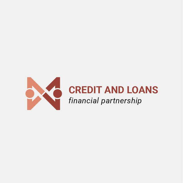 Financial Company with People Shaking Hands Icon Logo – шаблон для дизайну