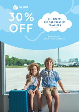Tickets Sale Kids in Airport