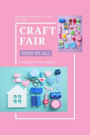Template di design Craft Fair with needlework tools Tumblr