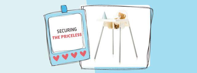 Kids' Highchair with Teddy Bear Facebook cover Modelo de Design