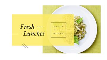 Lunch Menu Cooked Italian Pasta | Youtube Channel Art