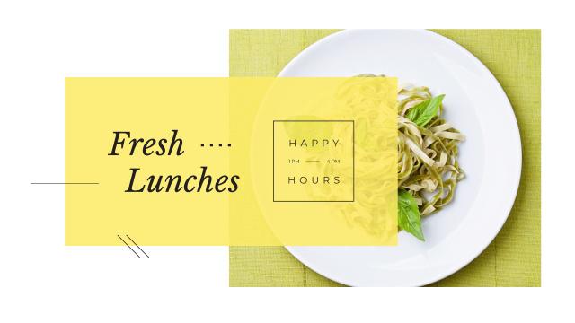 Plantilla de diseño de Lunch Menu with Cooked Italian Pasta Youtube