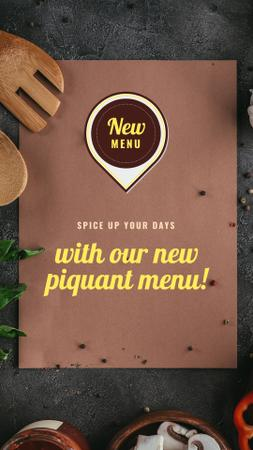 New Piquant Menu Offer Instagram Story Modelo de Design