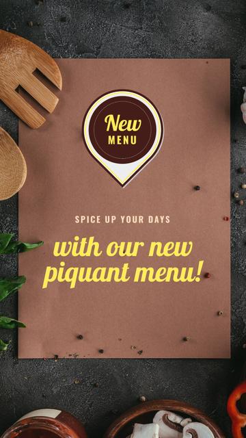 Plantilla de diseño de New Piquant Menu Offer Instagram Story
