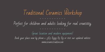 Traditional Ceramics Workshop Announcement