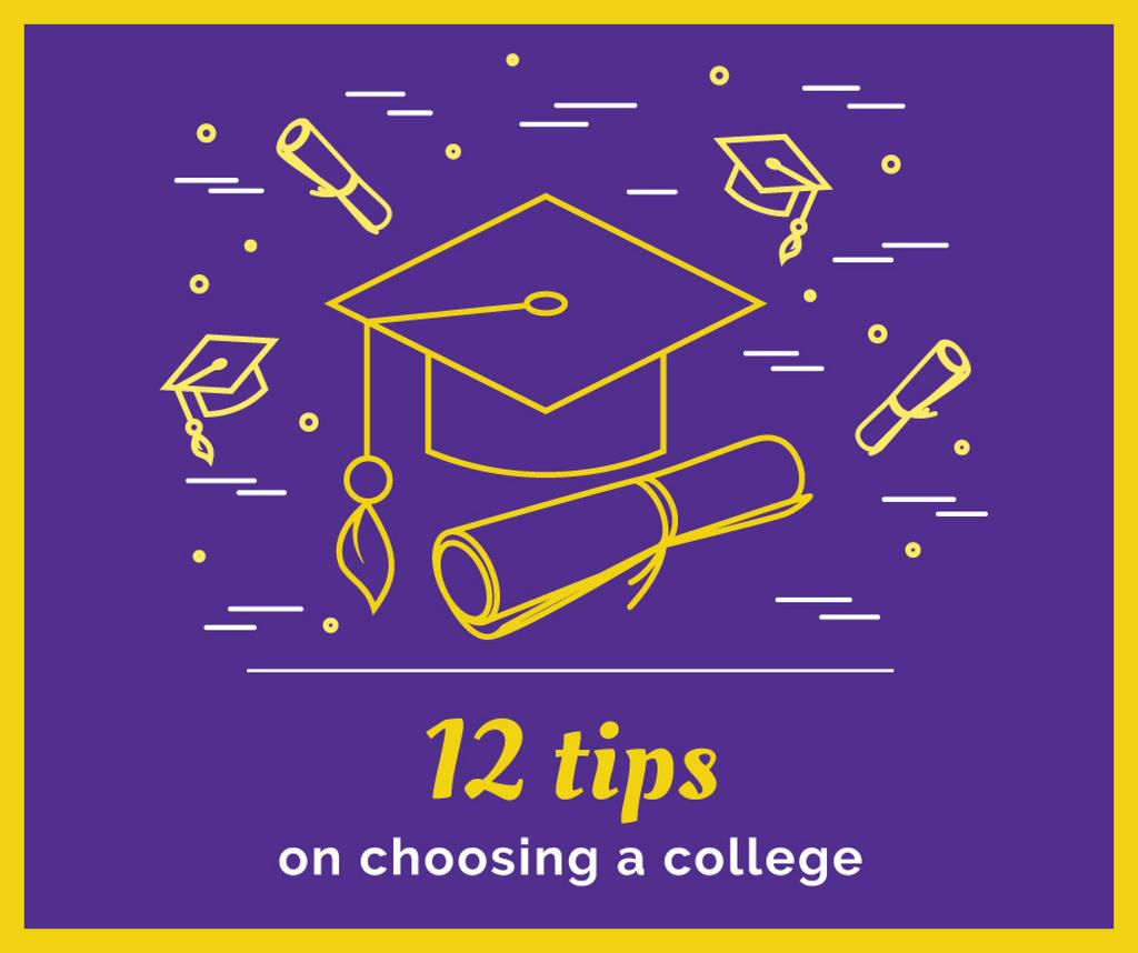 Choosing college tips with Graduation Cap — Crear un diseño