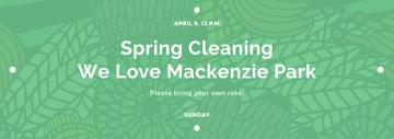 Spring Cleaning Event Invitation Green Floral Texture | Tumblr Banner Template