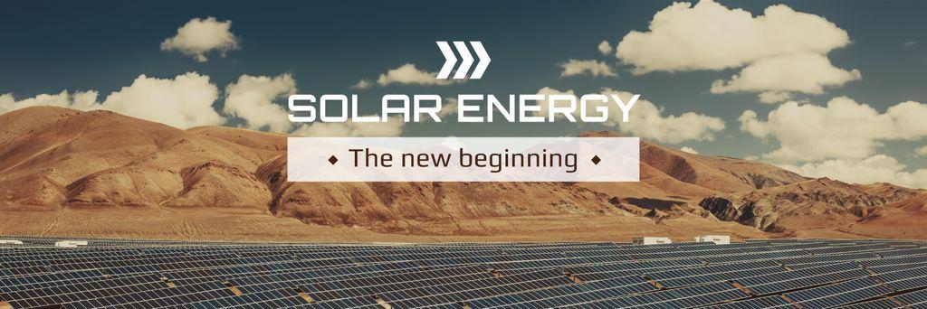 Green Energy Solar Panels in Desert Twitter Modelo de Design