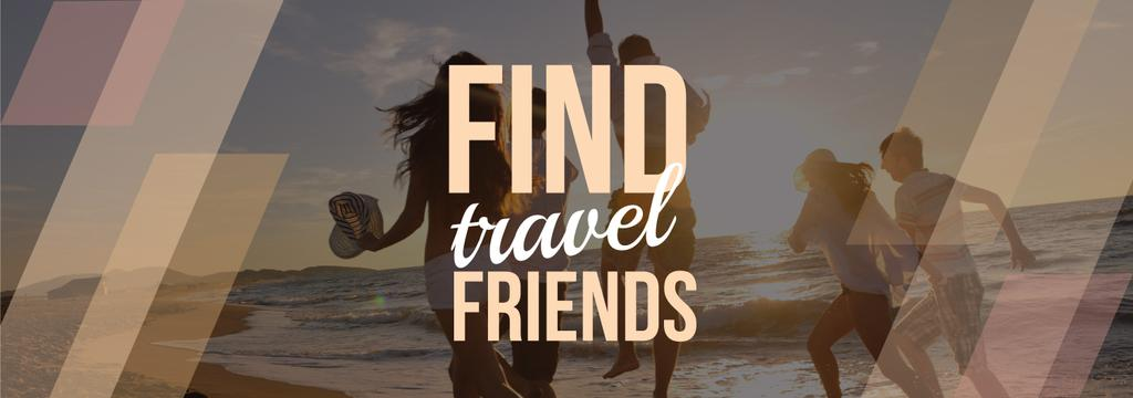 Travel Inspiration Young People at Seacoast | Tumblr Banner Template — Crear un diseño