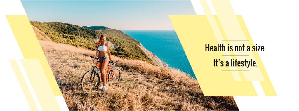 Cyclist admiring nature view — Créer un visuel