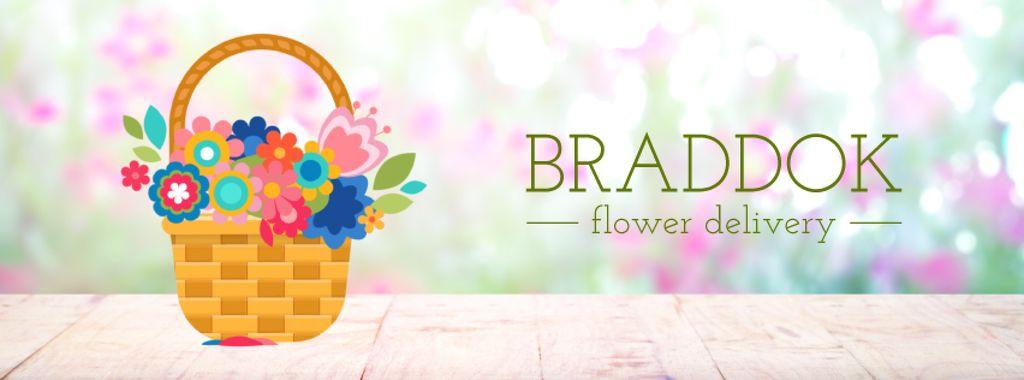Blooming flowers in basket — Crea un design