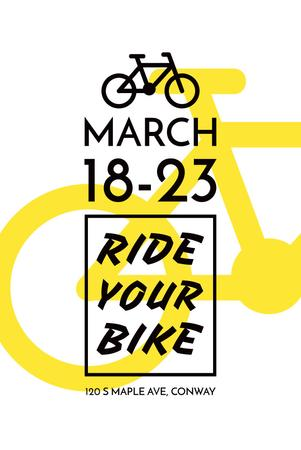 Plantilla de diseño de Cycling Event announcement with simple Bicycle Icon Pinterest