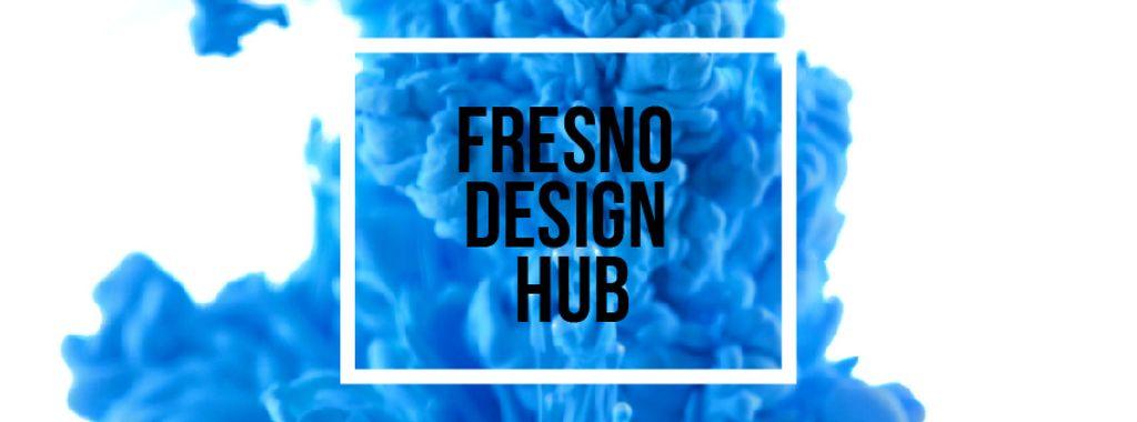 Blue ink splashing in water — Crear un diseño