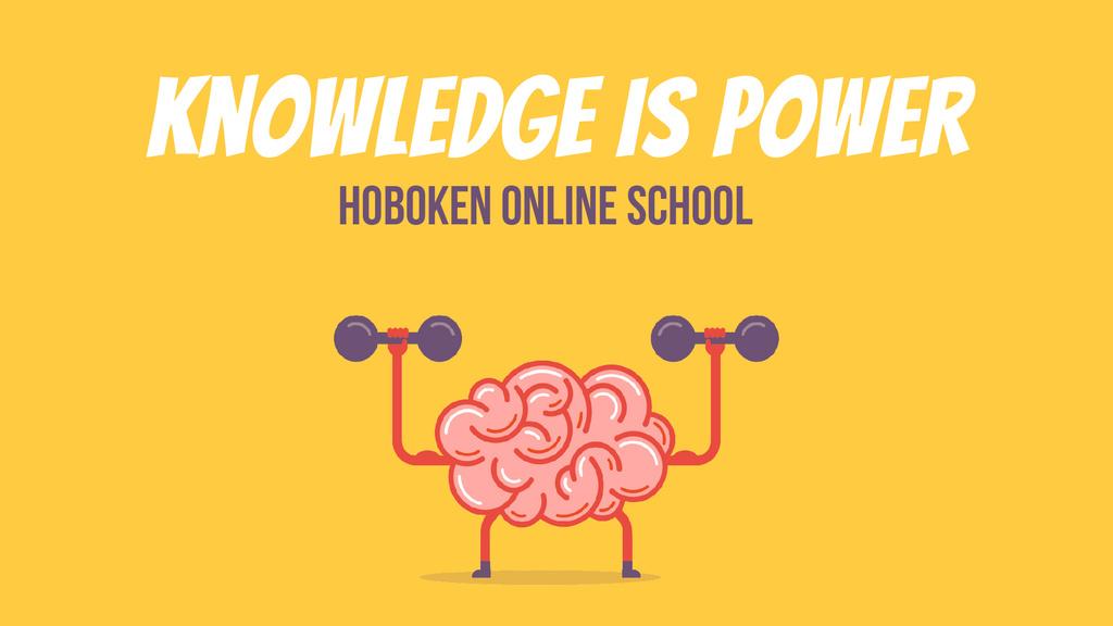 Education Power Brain Training with Dumbbells — Créer un visuel