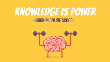 Education Power Brain Training with Dumbbells | Full Hd Video Template