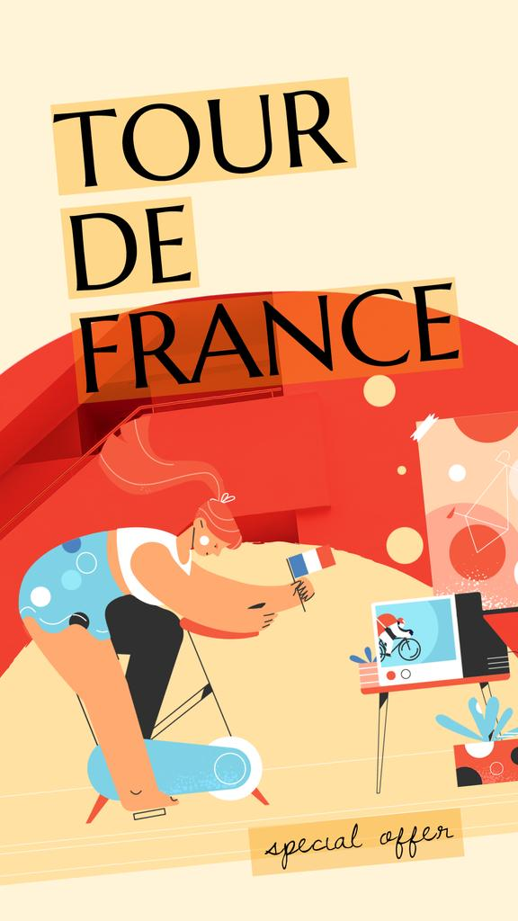 Tour De France Offer Girl on Bicycle — Crear un diseño