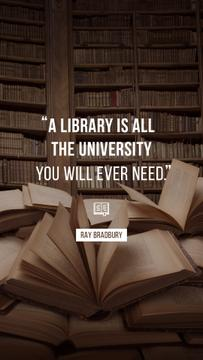 Quote about Library and education on Books