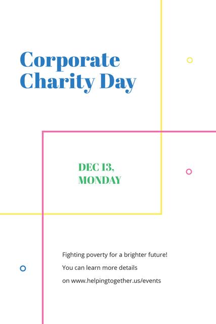 Corporate Charity Day Pinterest – шаблон для дизайну