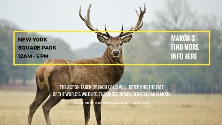 Plantilla de diseño de Eco Event announcement with Wild Deer FB event cover