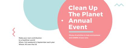 Ecological Event Announcement Simple Circles Frame Tumblr Design Template