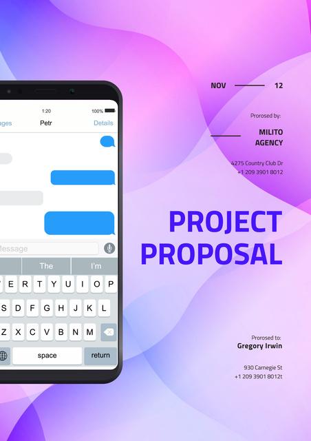 Plantilla de diseño de Project Strategy overview Proposal