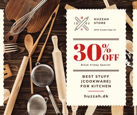 Template di design Black Friday Offer Kitchenware Sale Facebook