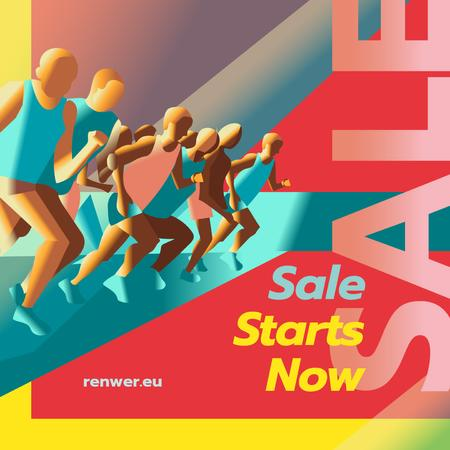 Template di design Sale Offer with Runners at start position Instagram