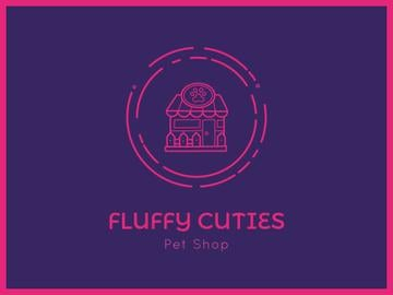 Pet Shop Icon in Pink | Presentation Template