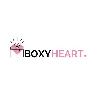 Gift Box with Heart and Bow | Logo Template