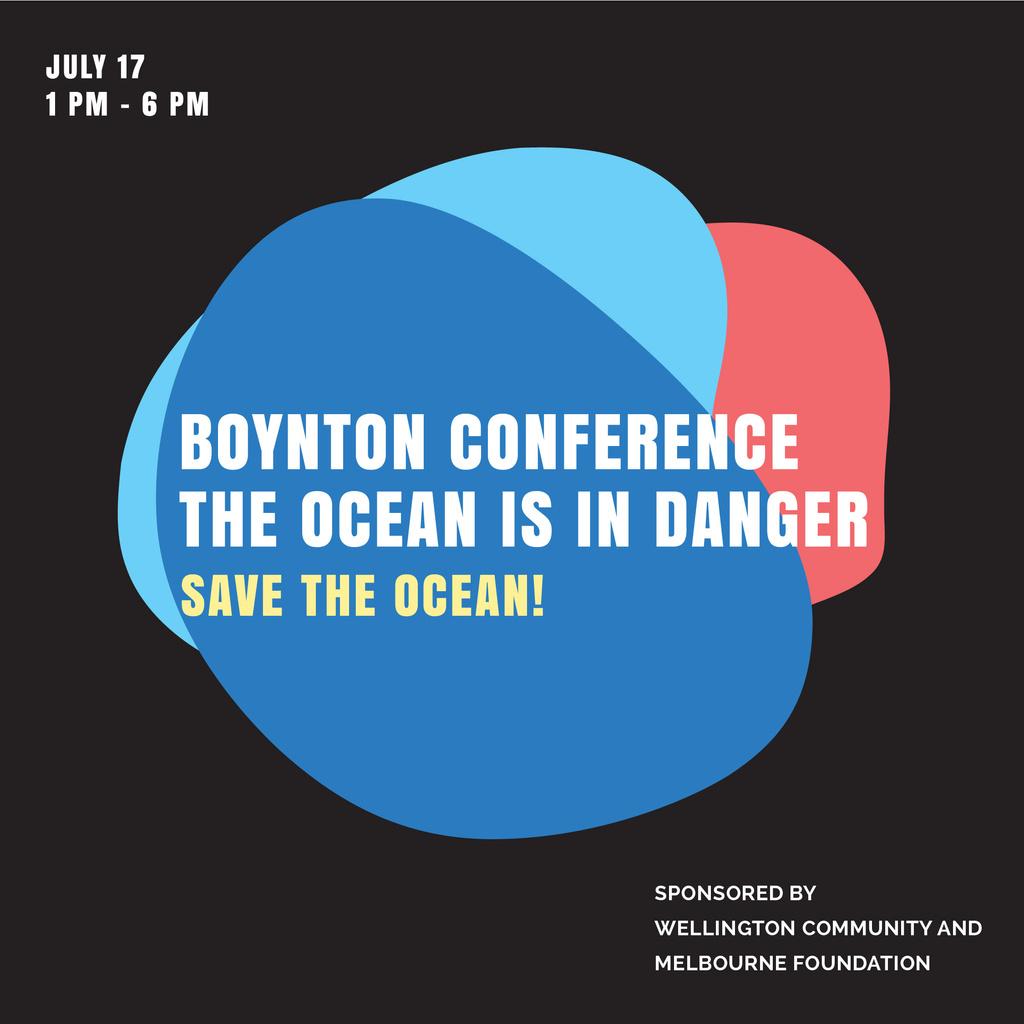 Ecology Conference Invitation in Colorful Frame — Crea un design