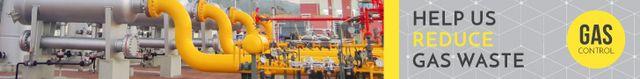 Template di design Gas control banner Leaderboard