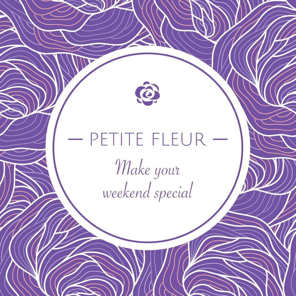 Petite fleur weekend card — Створити дизайн