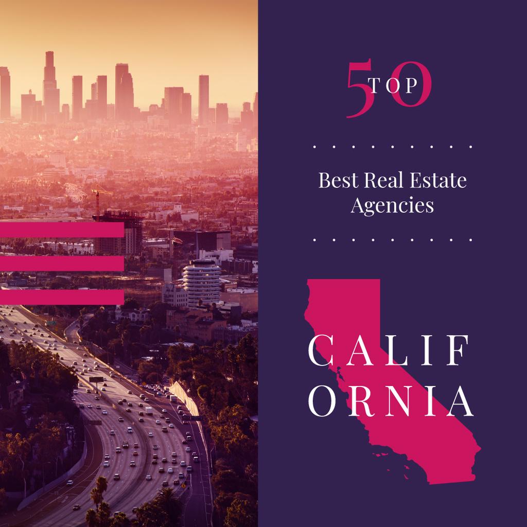 Los Angeles city buildings Instagram Modelo de Design